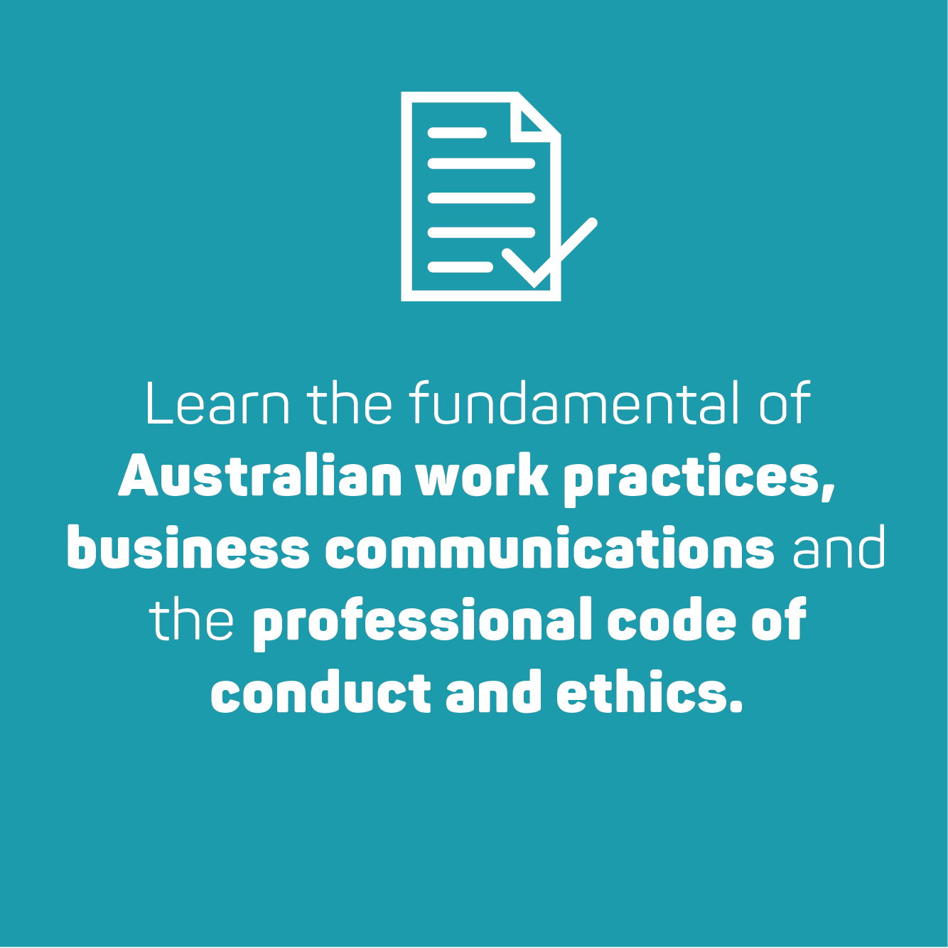 learn the fundamentals of Australian work practices
