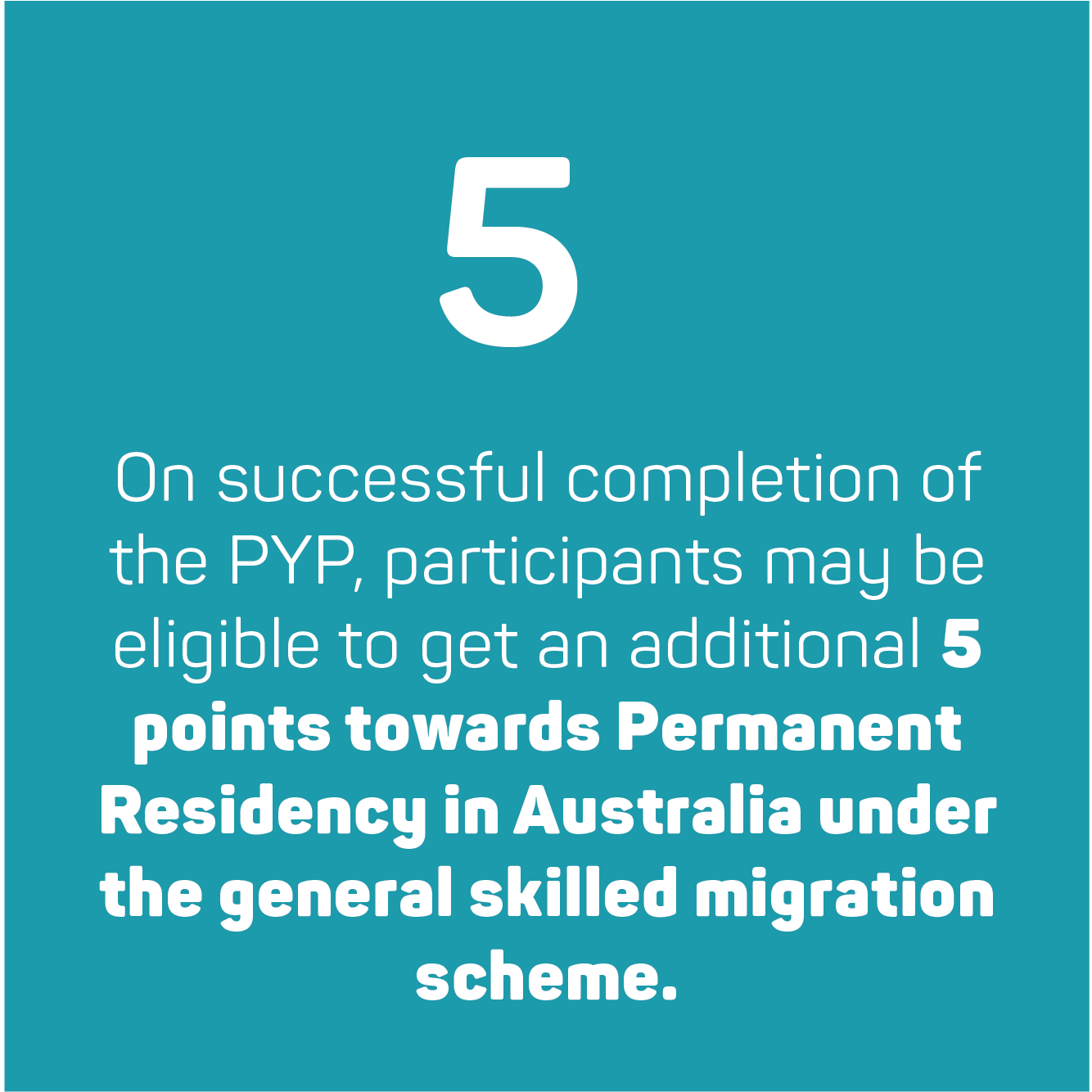 Earn 5 more points towards permanent residency
